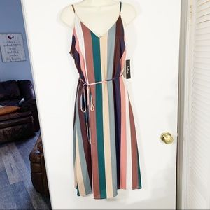 NEW lulus multicolor striped dress